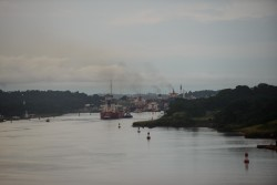 Approaching Gatun Locks, Panama Canal