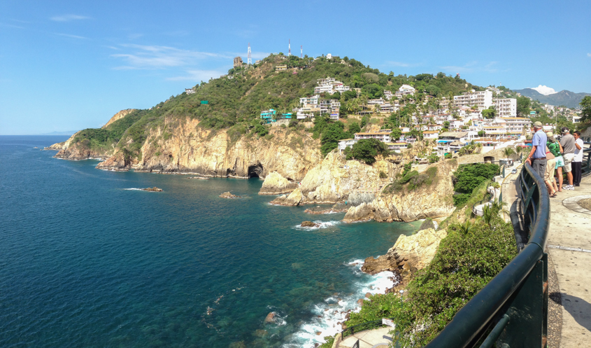 Near cliff diving area of Acapulco