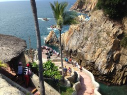 Cliff diving in Acapulco