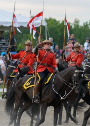 RCMP Musical Ride Sunset Ceremony 2015-418