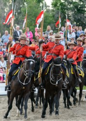 RCMP Musical Ride Sunset Ceremony 2015-462