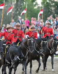 RCMP Musical Ride Sunset Ceremony 2015-511