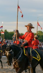 RCMP Musical Ride Sunset Ceremony 2015-579