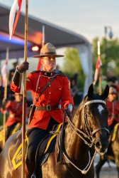 RCMP Musical Ride Sunset Ceremony 2015-601