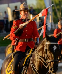 RCMP Musical Ride Sunset Ceremony 2015-606