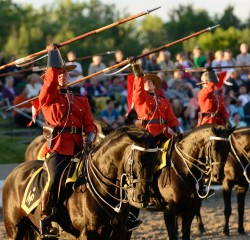 RCMP Musical Ride Sunset Ceremony 2015-612