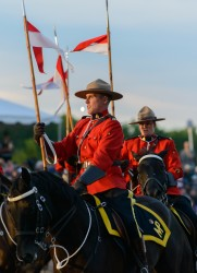 RCMP Musical Ride Sunset Ceremony 2015-639
