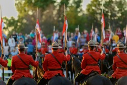 RCMP Musical Ride Sunset Ceremony 2015-703