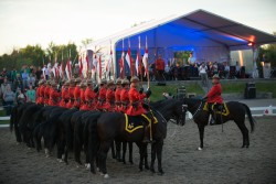 RCMP Musical Ride Sunset Ceremony 2015-706